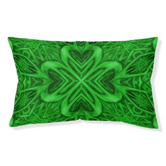 Celtic Clover  Green Vintage Kaleidoscope Dog Bed