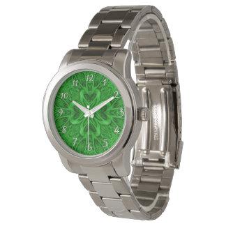 Celtic Clover Green   Vintage Mens Watch