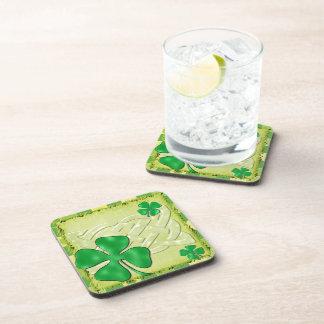 Celtic Clover Irish 3D Beverage Coasters