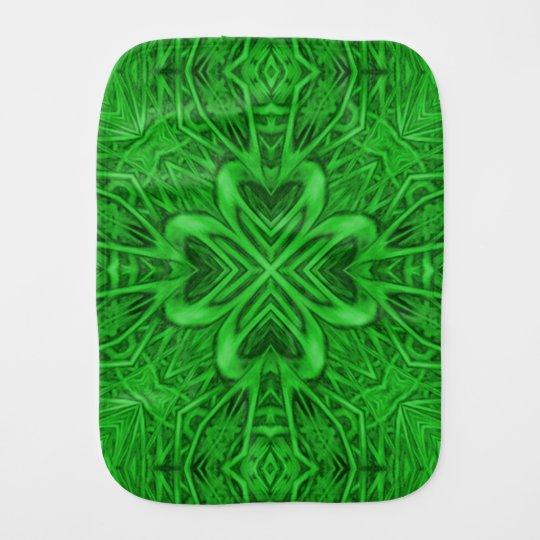 Celtic Clover Kaleidoscope Burp Cloth
