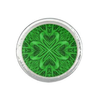 Celtic Clover Kaleidoscope Custom Rings