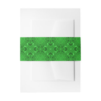 Celtic Clover Kaleidoscope Invitation Belly Band
