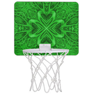 Celtic Clover Kaleidoscope Mini Basketball Hoops