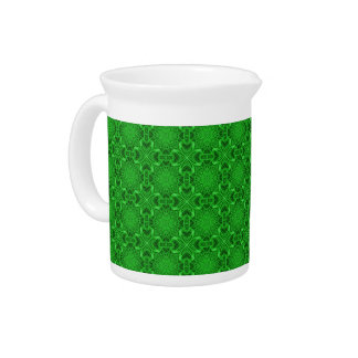 Celtic Clover Kaleidoscope Porcelain Pitchers