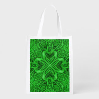 Celtic Clover Reusable Bags Market Totes
