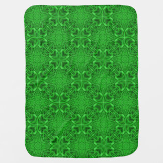 Celtic Clover  Tiled Design Baby Blankets