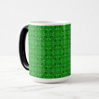 Celtic Clover Vintage Kaleidoscope Morphing Mug