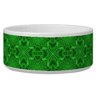 Celtic Clover Vintage  Kaleidoscope  Pet Dish Pet Bowls