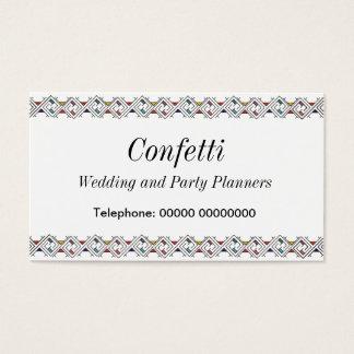 Celtic Confetti top and bottom bordered Business Card