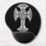 Celtic Cross 2 Black Gel Mousepad