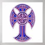 Celtic Cross 2 Purple Posters