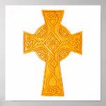 Celtic Cross 3 Gold Poster