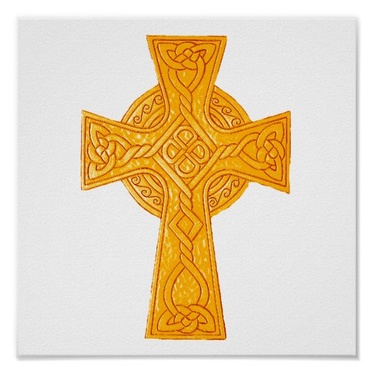 Celtic Cross 3 Gold Poster