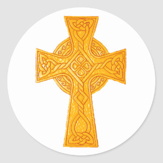 Celtic Cross 3 Gold Stickers
