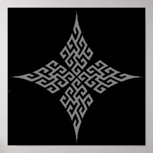 Celtic Cross 5 Black Posters
