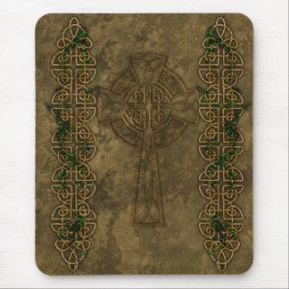 Celtic Cross and Celtic Knots Mouse Mat