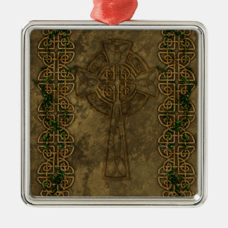Celtic Cross and Cross Knots Christmas Ornament