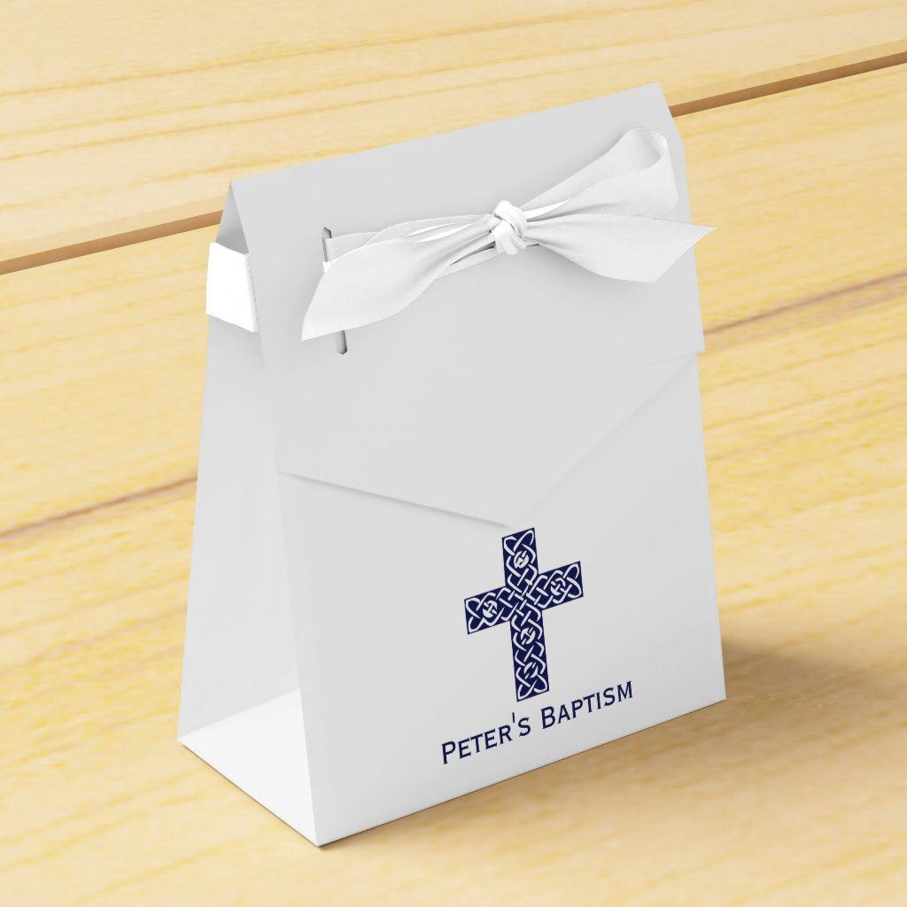 Celtic Cross Baptism Favour Box
