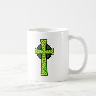 Celtic Cross Basic White Mug