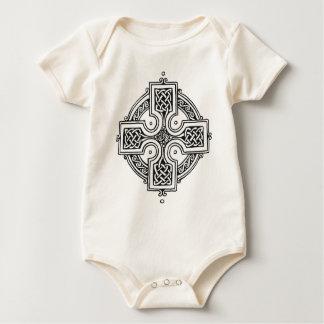 Celtic Cross (black and white) Baby Bodysuit