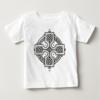 Celtic Cross (black and white) Baby T-Shirt