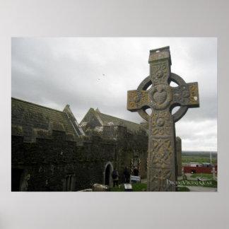 Celtic Cross, Cashel, Ireland Poster