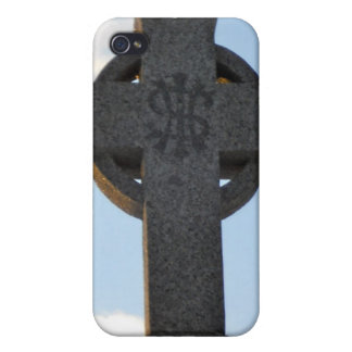 Celtic Cross Cemetery Monument IHS iPhone 4 Cases