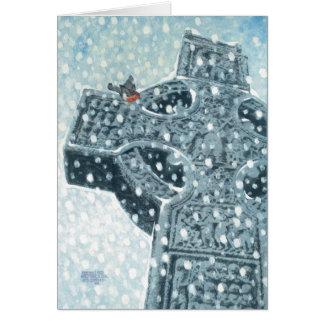 Celtic Cross Christmas Card
