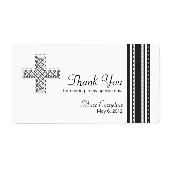 Celtic Cross First Holy Communion Favour Shipping Label