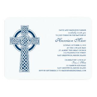 Celtic Cross First Holy Communion Invitation