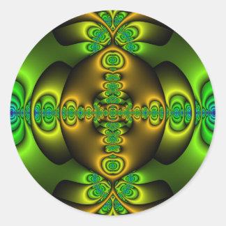 Celtic Cross Fractal Art Stickers