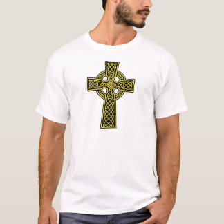 Celtic Cross gold and black T-Shirt