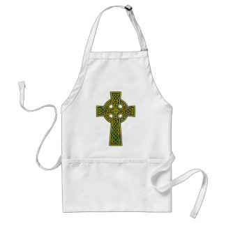 Celtic Cross gold and green Standard Apron