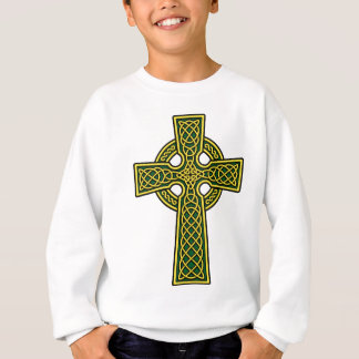 Celtic Cross gold and green Sweatshirt