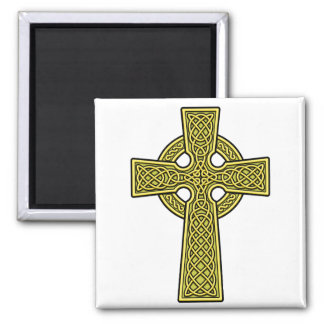 Celtic Cross gold Magnet
