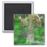 Celtic Cross Gravestone Square Magnet