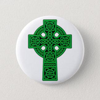 Celtic Cross green 6 Cm Round Badge