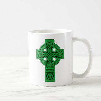 Celtic Cross green Coffee Mug