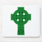Celtic Cross green Mouse Mat