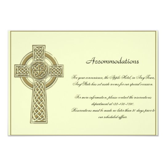 Celtic Cross in Gold Mythic Ivory Wedding Insert