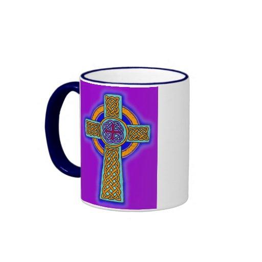 Celtic Cross in Pink Hues Coffee Mug