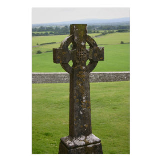 Celtic Cross Ireland Poster