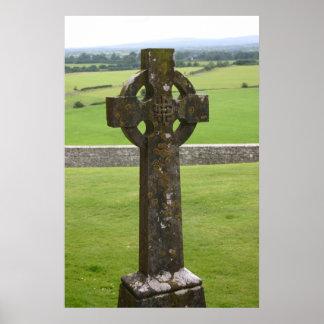 Celtic Cross Ireland Poster