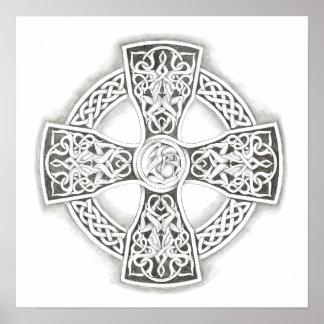 Celtic Cross Irish Poster Fine Art Print