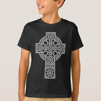 Celtic Cross light grey and black T-Shirt
