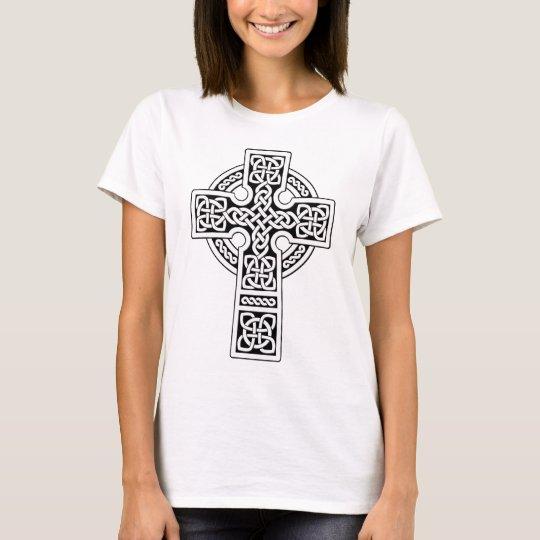 Celtic Cross light white and black T-Shirt