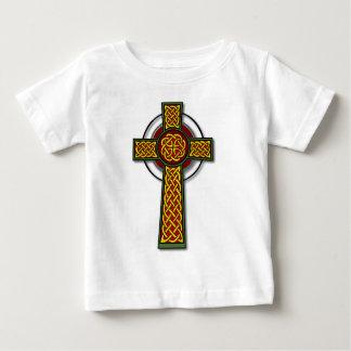 Celtic Cross (long, colour) Baby T-Shirt