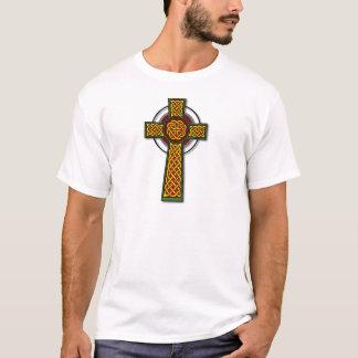 Celtic Cross (long, colour) T-Shirt