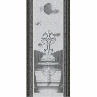 Celtic Cross Moon Sculpture Acrylic Cut Outs