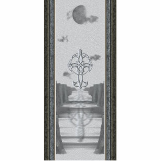 Celtic Cross Moon Sculpture Standing Photo Sculpture
